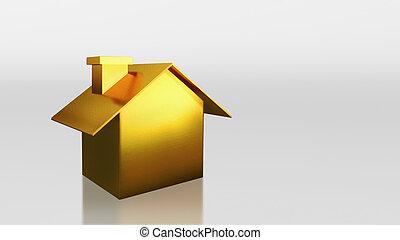 investimento, oro, casa