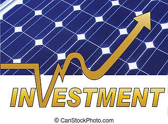 investimento, painel solar