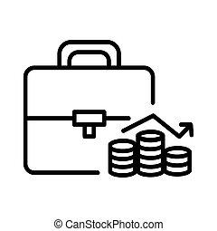 investimento, portofolio, ilustração, desenho