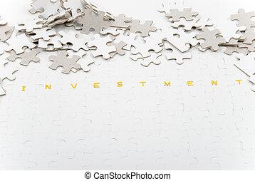 investimento, quebra-cabeça