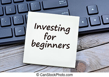 Investing for beginners words on notes