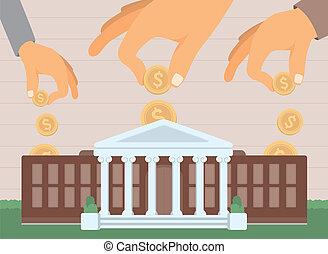 investir, éducation université, financement, /