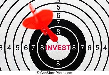 investir, conceito, alvo