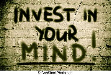 investir, conceito, mente, seu