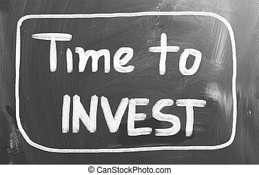 investir, conceito, tempo