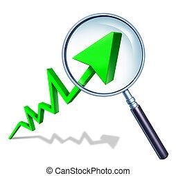 investir, concept, analist