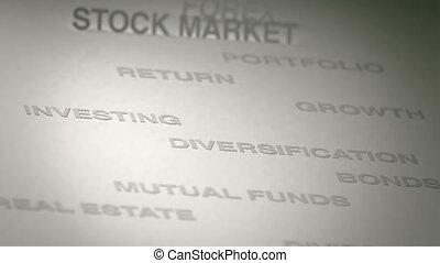 investir, concept, animation