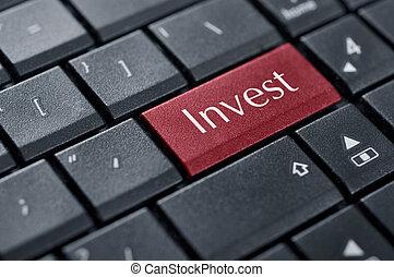 investir, concept.