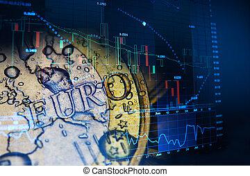 investire, concetto, euro