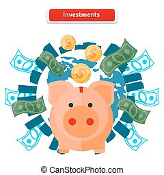 investissement, banque, porcin