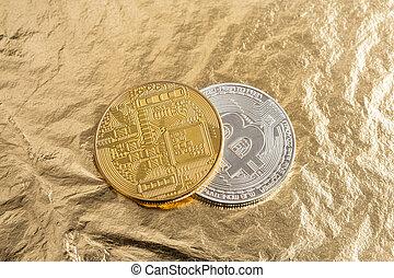 investissement, concept, économie, ou, bitcoin