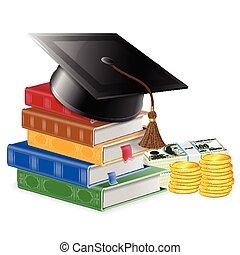investissement, concept, education