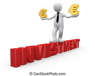 investissement, dans, euro