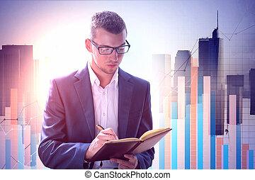 investissement, et, croissance, concept