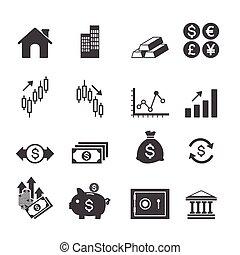 investissement financier, icônes