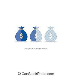 structure financier argent budget coupure portefeuille illustration vectorielle. Black Bedroom Furniture Sets. Home Design Ideas