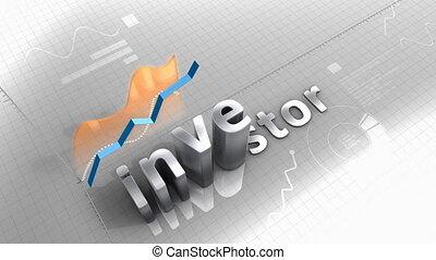 """investisseur, diagramme, données, """"growing, statistique, performance."""""""