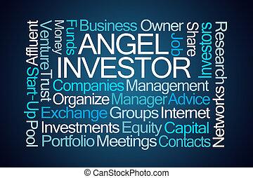 investitore angelo, parola, nuvola