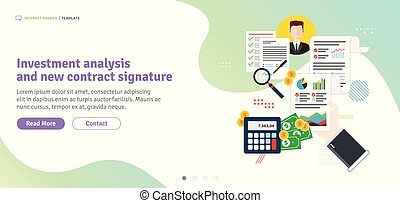 Investment analysis and new contract signature.