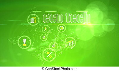 """Investment Backdrop with Eco Tech Ideas"" - ""An ambitious 3d..."