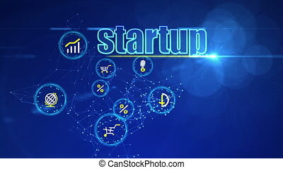 """""""Investment Backdrop with Startup Icons"""" - """"A brainstorming..."""