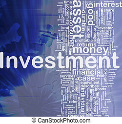 Investment background concept - Background concept wordcloud...