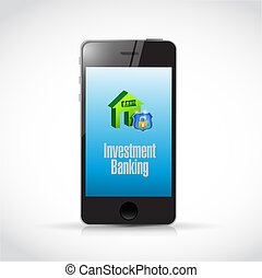 Investment Banking mobile illustration