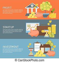 Investment Banner Set
