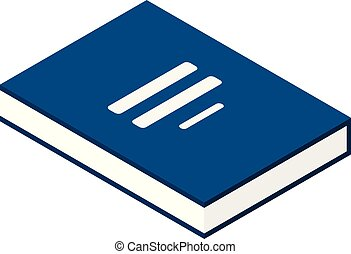 Investment book icon, isometric style - Investment book...