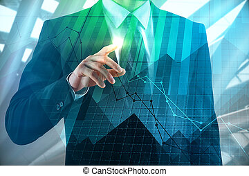 Investment, broker and banking concept
