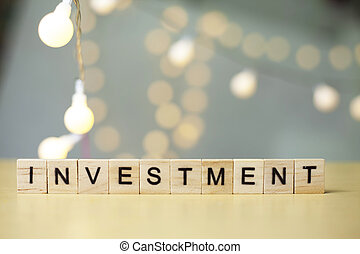 Investment, Business Words Quotes Concept