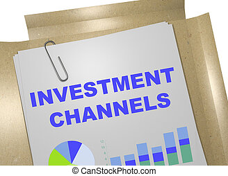 Investment Channels business concept