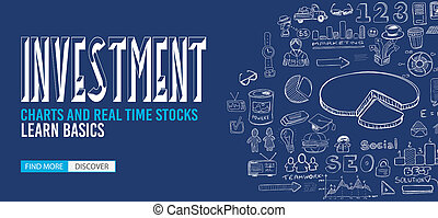 Investment Chart concept with Doodle design style