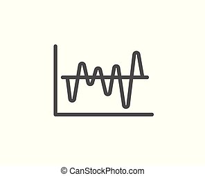 Investment chart line icon. Finance graph.