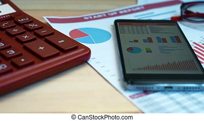 Investment Charts And Stock Statistics, Mobile Phone, Pen...