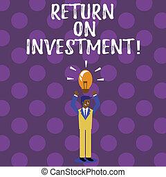 investment., concepto, regreso, empresa / negocio, texto, escritura, efficiency., medida, palabra, evaluación, perforanalysisce