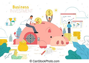Investment design with piggy bank