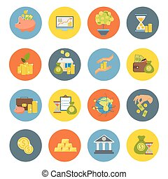 Investment Flat Icon Set