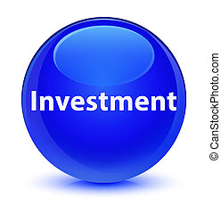 Investment glassy blue round button