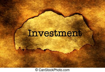 Investment grunge concept