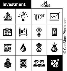 Investment Icons Black