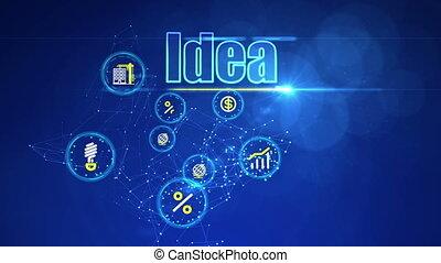 """""""investment, ideas"""", toile de fond, business"""