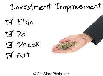 investment improvement concept
