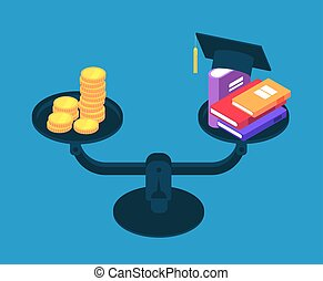 Investment in education. Money for college studying, books...