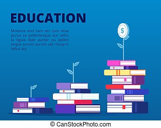 Investment in self education vector concept banner