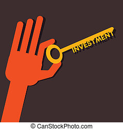 Investment key in hand