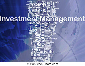 Investment management background concept - Background...