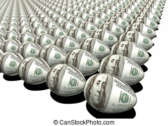investment metaphor: dollar egg
