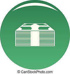 Investment money icon vector green