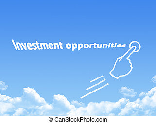 investment opportunities message cloud shape